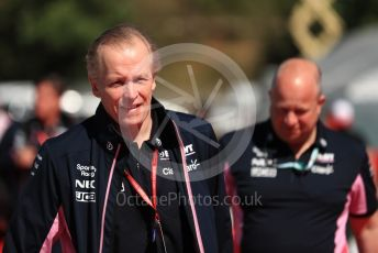 World © Octane Photographic Ltd. Formula 1 - Spanish GP. Paddock. Andrew (Andy) Green - Technical Director at SportPesa Racing Point. Circuit de Barcelona Catalunya, Spain. Sunday 12th May 2019.