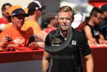 World © Octane Photographic Ltd. Formula 1 – Spanish GP. Paddock. Rich Energy Haas F1 Team VF19 – Kevin Magnussen. Circuit de Barcelona Catalunya, Spain. Sunday 12th May 2019.