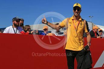 World © Octane Photographic Ltd. Formula 1 – Spanish GP. Paddock. Renault Sport F1 Team RS19 – Daniel Ricciardo. Circuit de Barcelona Catalunya, Spain. Sunday 12th May 2019.