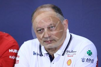 World © Octane Photographic Ltd. Formula 1 – Spanish GP. FIA Team Press Conference. Frederic Vasseur – Team Principal and CEO of Sauber Motorsport AG. Circuit de Barcelona Catalunya, Spain. Friday 10th May 2019.