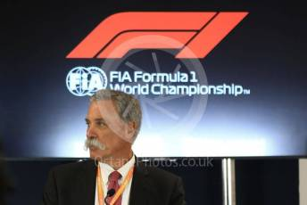 World © Octane Photographic Ltd. Formula 1 - 2021 Regulations Press Conference. Chase Carey - Chief Executive Officer of the Formula One Group. Circuit of the Americas (COTA), Austin, Texas, USA. Thursday 31st October 2019.
