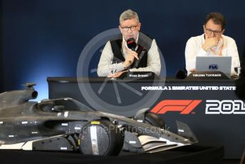 World © Octane Photographic Ltd. Formula 1 - 2021 Regulations Press Conference. Nikolas Tombazis – FIA Head of Single-Seater Technical Matters and Ross Brawn – Managing Director of Formula 1 for Liberty Media. Circuit of the Americas (COTA), Austin, Texas, USA. Thursday 31st October 2019.