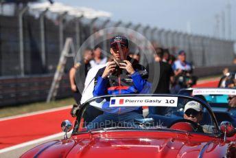 World © Octane Photographic Ltd. Formula 1 – United States GP - Drivers' Parade. Scuderia Toro Rosso STR14 – Pierre Gasly. Circuit of the Americas (COTA), Austin, Texas, USA. Sunday 3rd November 2019.