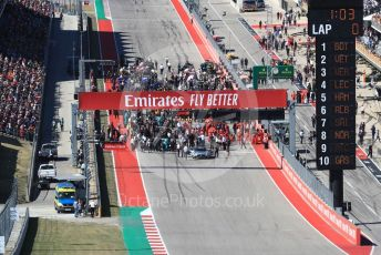 World © Octane Photographic Ltd. Formula 1 - United States GP - Grid. The grid forms up ready for the start. Circuit of the Americas (COTA), Austin, Texas, USA. Sunday 3rd November 2019.