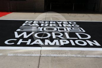 """World © Octane Photographic Ltd. Formula 1 – United States GP - Drivers' Parade. Parc Ferme space """"Reserved for 2019 World Champion"""" . Circuit of the Americas (COTA), Austin, Texas, USA. Sunday 3rd November 2019."""