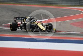 World © Octane Photographic Ltd. Formula 1 – United States GP - Practice 2. Renault Sport F1 Team RS19 – Daniel Ricciardo. Circuit of the Americas (COTA), Austin, Texas, USA. Friday 1st November 2019.
