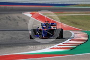 World © Octane Photographic Ltd. Formula 1 – United States GP - Quailfying. Scuderia Toro Rosso STR14 – Daniil Kvyat. Circuit of the Americas (COTA), Austin, Texas, USA. Saturday 2nd November 2019.