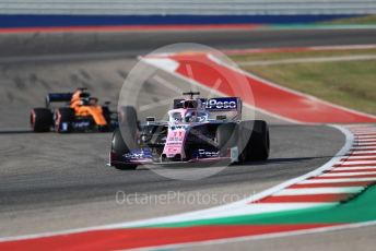 World © Octane Photographic Ltd. Formula 1 – United States GP - Quailfying. SportPesa Racing Point RP19 - Sergio Perez. Circuit of the Americas (COTA), Austin, Texas, USA. Saturday 2nd November 2019.