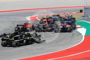 World © Octane Photographic Ltd. Formula 1 – United States GP - Race. Mercedes AMG Petronas Motorsport AMG F1 W10 EQ Power+ - Valtteri Bottas leads the pack. Circuit of the Americas (COTA), Austin, Texas, USA. Sunday 3rd November 2019.