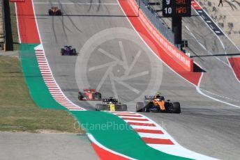 World © Octane Photographic Ltd. Formula 1 – United States GP - Race. McLaren MCL34 – Lando Norris and Renault Sport F1 Team RS19 – Daniel Ricciardo. Circuit of the Americas (COTA), Austin, Texas, USA. Sunday 3rd November 2019.