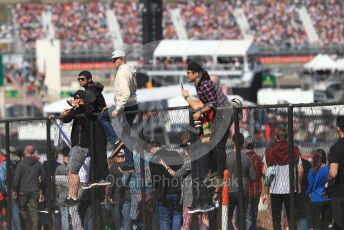 World © Octane Photographic Ltd. Formula 1 – United States GP - Race. Fans climbing fences to get a better view. Circuit of the Americas (COTA), Austin, Texas, USA. Sunday 3rd November 2019.