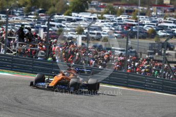 World © Octane Photographic Ltd. Formula 1 – United States GP - Race. McLaren MCL34 – Lando Norris. Circuit of the Americas (COTA), Austin, Texas, USA. Sunday 3rd November 2019.