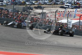 World © Octane Photographic Ltd. Formula 1 – United States GP - Race. Haas F1 Team VF19 – Kevin Magnussen and Alfa Romeo Racing C38 – Kimi Raikkonen. Circuit of the Americas (COTA), Austin, Texas, USA. Sunday 3rd November 2019.