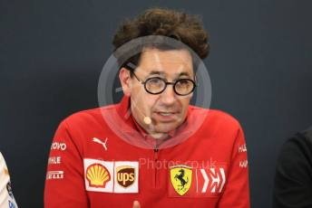 World © Octane Photographic Ltd. Formula 1 - United States GP – Friday FIA Team Press Conference. Mattia Binotto – Team Principal of Scuderia Ferrari. Circuit of the Americas (COTA), Austin, Texas, USA. Friday 1st November 2019.