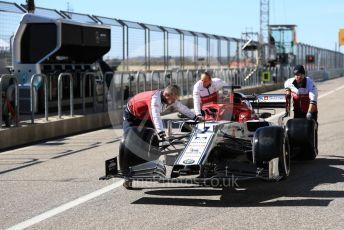 World © Octane Photographic Ltd. Formula 1 – United States GP - Pit Lane. Alfa Romeo Racing C38 – Kimi Raikkonen. Circuit of the Americas (COTA), Austin, Texas, USA. Thursday 31st October 2019.