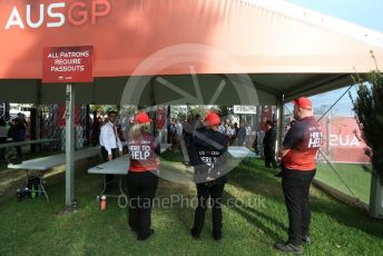 World © Octane Photographic Ltd. Formula 1 – F1 Australian Grand Prix breakdown. Fans denied entry. Melbourne, Australia. Friday 13th March 2020.
