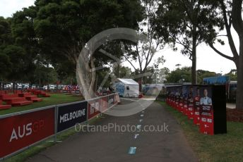 World © Octane Photographic Ltd. Formula 1 – F1 Australian Grand Prix breakdown. The empty Melbourne Walk. Melbourne, Australia. Friday 13th March 2020.
