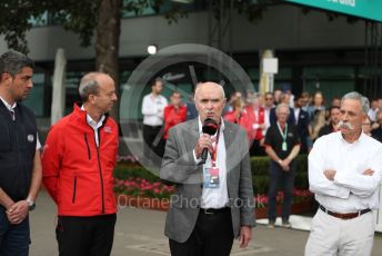 World © Octane Photographic Ltd. Formula 1 - Hungarian GP – Friday FIA Special Press Conference. Melbourne, Australia. Michael Masi – FIA Race Director and Safety Delegate, Andrew Westacott - Australian Grand Prix Corporation CEO. , Paul Little - Australian Grand Prix Corporation Chairman and Chase Carey - Chief Executive Officer of the Formula One Group. Friday 13th March 2020.