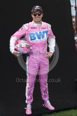 World © Octane Photographic Ltd. Formula 1 – F1 Australian Grand Prix - FIA photocall. BWT Racing Point F1 Team RP20 - Sergio Perez. Melbourne, Australia. Thursday 12th March 2020.