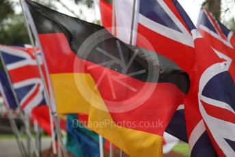 World © Octane Photographic Ltd. Formula 1 – F1 Australian Grand Prix – Flags on the Melbourne walk. Melbourne, Australia. Thursday 12th March 2020.