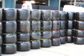 World © Octane Photographic Ltd. Formula 1 – F1 Australian Grand Prix. ROKiT Williams Racing FW 43 tyres. Melbourne, Australia. Wednesday 11th March 2020.