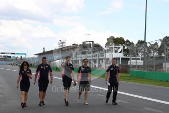 World © Octane Photographic Ltd. Formula 1 – F1 Australian Grand Prix - Track Walk. BWT Racing Point F1 Team RP20 - Sergio Perez. Melbourne, Australia. Wednesday 11th March 2020.