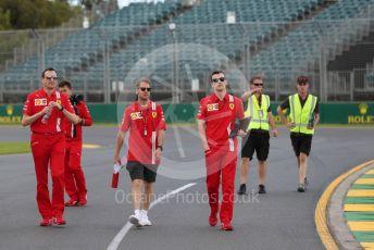 World © Octane Photographic Ltd. Formula 1 – F1 Australian Grand Prix - Track Walk. Scuderia Ferrari SF1000 – Sebastian Vettel. Melbourne, Australia. Wednesday 11th March 2020.