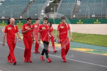 World © Octane Photographic Ltd. Formula 1 – F1 Australian Grand Prix - Track Walk. Scuderia Ferrari SF1000 – Charles Leclerc. Melbourne, Australia. Wednesday 11th March 2020.