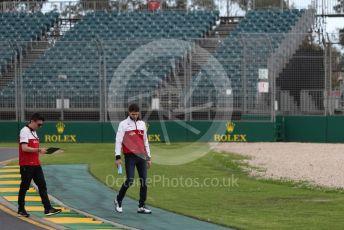 World © Octane Photographic Ltd. Formula 1 – F1 Australian Grand Prix - Track Walk. Alfa Romeo Racing Orlen C39 – Antonio Giovinazzi. Melbourne, Australia. Wednesday 11th March 2020.