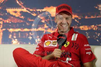 World © Octane Photographic Ltd. Formula 1 – F1 Pre-season Test 2 - Day 1 - Press Conference 2. Scuderia Ferrari – Sebastian Vettel. Circuit de Barcelona-Catalunya, Spain. Wednesday 26th February 2020.