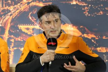 World © Octane Photographic Ltd. Formula 1 – F1 Pre-season Test 2 - Day 1 - Press Conference 1. James Key – Technical Director McLaren. Circuit de Barcelona-Catalunya, Spain. Wednesday 26th February 2020.