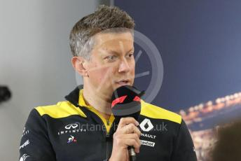 World © Octane Photographic Ltd. Formula 1 – F1 Pre-season Test 2 - Day 1 - Press Conference 1. Marcin Budkowski – Executive Director of Renault Sport Racing Formula 1 Team. Circuit de Barcelona-Catalunya, Spain. Wednesday 26th February 2020.