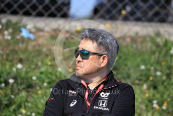 World © Octane Photographic Ltd. Formula 1 – F1 Pre-season Test 1 - Day 3. Masashi Yamamoto - General Manager of Honda's motorsport division. Circuit de Barcelona-Catalunya, Spain. Friday 21st February 2020.