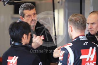 World © Octane Photographic Ltd. Formula 1 – F1 Pre-season Test 1 - Day 3. Haas F1 Team VF20 – Kevin Magnussen and Guenther Steiner - Team Principal of Rich Energy Haas F1 Team. Circuit de Barcelona-Catalunya, Spain. Friday 21st February 2020.
