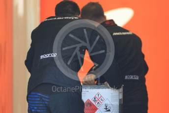 World © Octane Photographic Ltd. Formula 1 – F1 Pre-season Test 1 - Day 3. McLaren MCL35 fuel delivery. Circuit de Barcelona-Catalunya, Spain. Friday 21st February 2020.