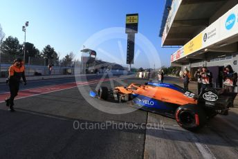 World © Octane Photographic Ltd. Formula 1 – F1 Pre-season Test 1 - Day 3. McLaren MCL35 – Carlos Sainz. Circuit de Barcelona-Catalunya, Spain. Friday 21st February 2020.