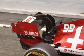 World © Octane Photographic Ltd. Formula 1 – F1 Pre-season Test 2 - Day 2. damaged Alfa Romeo Racing Orlen C39 – Antonio Giovinazzi. Circuit de Barcelona-Catalunya, Spain. Thursday 27th February 2020.