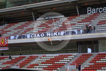 World © Octane Photographic Ltd. Formula 1 – F1 Pre-season Test 2 - Day 2. Ciao Niki baner. Circuit de Barcelona-Catalunya, Spain. Thursday 27th February 2020.  n