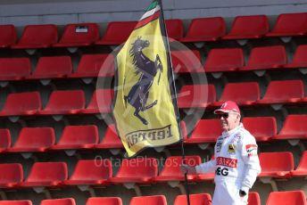 World © Octane Photographic Ltd. Formula 1 – F1 Pre-season Test 2 - Day 2. Ferrari fan. Circuit de Barcelona-Catalunya, Spain. Thursday 27th February 2020.