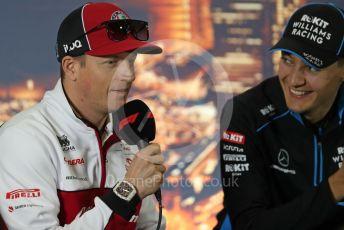 World © Octane Photographic Ltd. Formula 1 – F1 Pre-season Test 1 - Day 1. FIA Press Conference. Alfa Romeo Racing Orlen – Kimi Raikkonen. Circuit de Barcelona-Catalunya, Spain. Wednesday 19th February 2020.