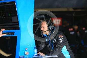 World © Octane Photographic Ltd. Formula 1 – F1 Pre-season Test 1 - Day 1. ROKiT Williams Racing garage. Circuit de Barcelona-Catalunya, Spain. Wednesday 19th February 2020.