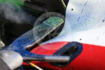 World © Octane Photographic Ltd. Formula 1 – F1 Pre-season Test 1 - Day 1. Areo paint splashed on ROKiT Williams Racing FW43 – Nicholas Latifi. Circuit de Barcelona-Catalunya, Spain. Wednesday 19th February 2020.