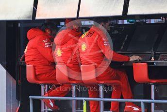World © Octane Photographic Ltd. Formula 1 – F1 Pre-season Test 1 - Day 2. Scuderia Ferrari Pitwall. Circuit de Barcelona-Catalunya, Spain. Thursday 20th February 2020.