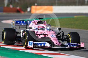 World © Octane Photographic Ltd. Formula 1 – F1 Pre-season Test 1 - Day 2. BWT Racing Point F1 Team RP20 - Sergio Perez. Circuit de Barcelona-Catalunya, Spain. Thursday 20th February 2020.