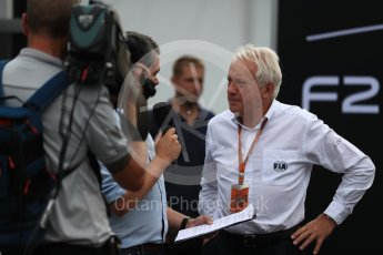World © Octane Photographic Ltd. Formula 1 - Italian Grand Prix – FIA Formula 2 2018 Car Launch - Charlie Whiting. Monza, Italy. Thursday 31st August 2017. Digital Ref: 1936LB1D0423