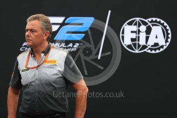 World © Octane Photographic Ltd. Formula 1 - Italian Grand Prix – FIA Formula 2 2018 Car Launch - Mario Isola. Monza, Italy. Thursday 31st August 2017. Digital Ref: 1936LB1D0482