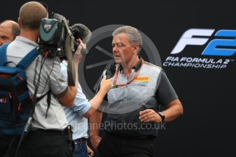 World © Octane Photographic Ltd. Formula 1 - Italian Grand Prix – FIA Formula 2 2018 Car Launch - Mario Isola. Monza, Italy. Thursday 31st August 2017. Digital Ref: 1936LB1D0491