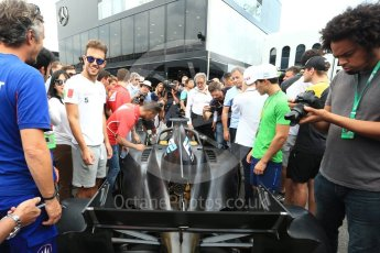 World © Octane Photographic Ltd. Formula 1 - Italian Grand Prix – FIA Formula 2 2018 Car Launch. Monza, Italy. Thursday 31st August 2017. Digital Ref: 1936LB2D7711