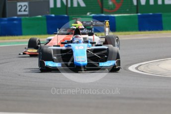 World © Octane Photographic Ltd. GP3 – Hungarian GP – Practice. Jenzer Motorsport - Juan Manual Correa and MP Motorsport - Dorian Boccolacci. Hungaroring, Budapest, Hungary. Friday 27th July 2018.