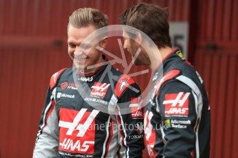 World © Octane Photographic Ltd. Formula 1 winter test 1, Haas F1 Team VF-17 physical unveil - Romain Grosjean and Kevin Magnussen, Circuit de Barcelona-Catalunya. Monday 27th February 2017. Digital Ref : 17779LB1D8114